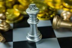 Fim abstrato da placa do jogo de xadrez acima da imagem Imagens de Stock