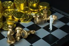 Fim abstrato da placa do jogo de xadrez acima da imagem Imagem de Stock