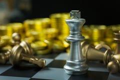 Fim abstrato da placa do jogo de xadrez acima da imagem Fotografia de Stock