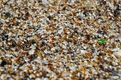 Fim acima - areia na praia de vidro - Hanapepe, Kauai Foto de Stock Royalty Free