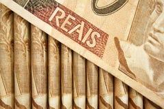 Fim-acima brasileiro do dinheiro Foto de Stock