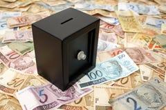 Fim-acima brasileiro do dinheiro Fotografia de Stock Royalty Free
