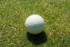 Fim-acima da bola de golfe Fotos de Stock Royalty Free
