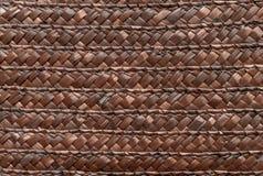 Fim acima da textura da cesta de vime para o uso como o fundo Textura tecida da cesta fotos de stock