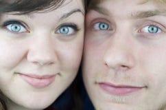 Fim-Acima das faces dos pares Imagens de Stock Royalty Free