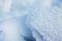 Fim-acima de cristais de gelo Imagens de Stock