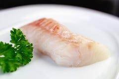 Peixes brancos crus naturais Fotos de Stock Royalty Free