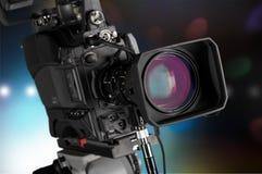Fim-acima de uma lente de câmara de televisão Fotos de Stock