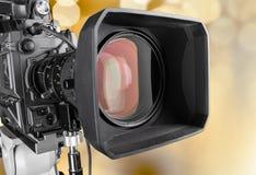 Fim-acima de uma lente de câmara de televisão Imagem de Stock Royalty Free