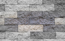 Fim acima do modelado de blocos do granito na parede Imagem de Stock Royalty Free
