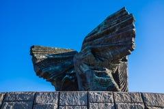 Feche acima do monumento Silesian dos rebeldes Fotografia de Stock Royalty Free