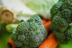 Fim acima do produto vegetal orgânico cru fresco Imagem de Stock
