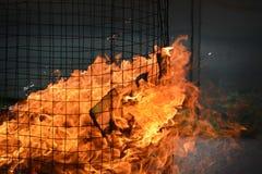 Fim acima do ritual chinês do fogo fotografia de stock
