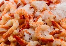 Descascado Devein camarões Fotografia de Stock