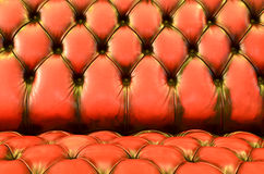 Fim-acima marrom da textura do sofá do encanto Fotos de Stock Royalty Free