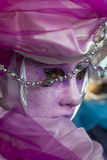 Fim-acima Venetian da máscara Fotografia de Stock Royalty Free