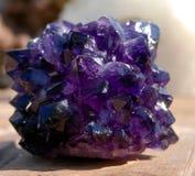 Fim Amethyst da pedra Imagem de Stock