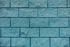 Fim azul da textura do fundo da parede de tijolo acima fotos de stock