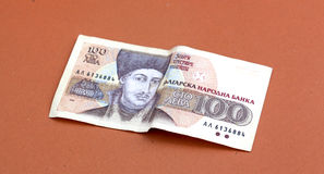 Fim búlgaro do dinheiro acima DOF raso Fotos de Stock Royalty Free