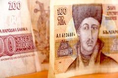 Fim búlgaro do dinheiro acima DOF raso Fotos de Stock