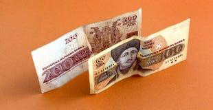 Fim búlgaro do dinheiro acima DOF raso Imagem de Stock