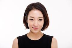 Fim bonito asiático novo da mulher de negócio acima do retrato. Foto de Stock
