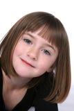 Fim bonito da face da menina acima com olhos bonitos Fotos de Stock Royalty Free