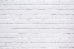 Fim branco do fundo da parede de tijolo Imagens de Stock