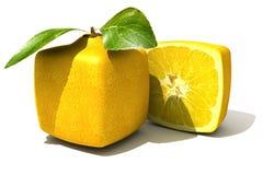 Fim cúbico do limão acima ilustração do vetor