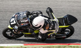 FIM CEV REPSOL - MOTO 3. FIM CEV Repsol motorcycling championship that celebrates on days 21-22 June 2014 at Circuit of Barcelona Catalunya, Spain Stock Photography
