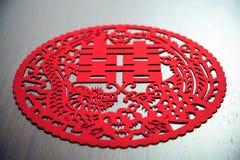 Fim chinês da decoração do casamento acima Imagem de Stock Royalty Free