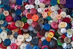 Fim colorido do botão acima Fotografia de Stock