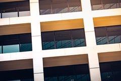 Fim comercial moderno da construção acima da vista Fotografia de Stock Royalty Free