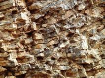 Fim Craggy da face da rocha acima Foto de Stock