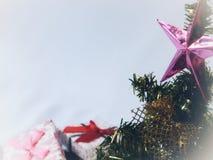 Fim da árvore de Natal acima Fotografia de Stock