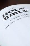 Fim da Bíblia santamente acima Fotos de Stock Royalty Free