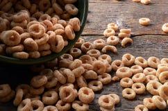 Fim da bacia de cereal acima Foto de Stock Royalty Free