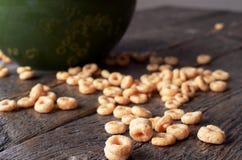 Fim da bacia de cereal acima Imagens de Stock Royalty Free
