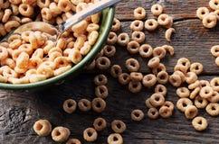 Fim da bacia de cereal acima Imagens de Stock