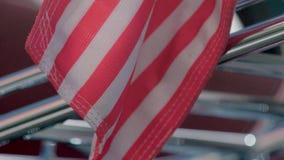 Fim da bandeira americana acima vídeos de arquivo