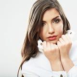 Fim da cara da mulher da beleza acima do retrato Foto de Stock