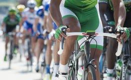 Fim da competição do ciclismo acima Fotos de Stock Royalty Free