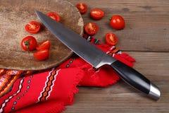 Fim da faca de cozinha acima Foto de Stock