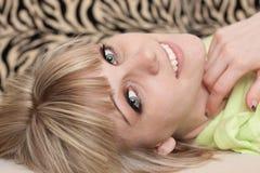 Fim da face da menina acima Imagem de Stock Royalty Free