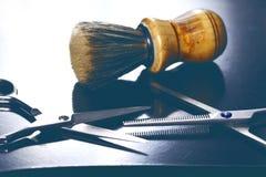 Fim da ferramenta do barbeiro acima imagem de stock royalty free