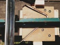 Fim da ferramenta do carpinteiro acima Fotografia de Stock