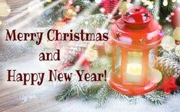 Fim da lanterna do Natal acima Fotografia de Stock