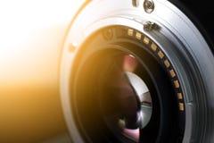 Fim da lente de câmara digital acima fotos de stock royalty free