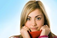 Fim da menina da beleza acima do retrato Fotos de Stock Royalty Free