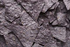 Fim da microplaqueta de Tortilla acima Fotografia de Stock Royalty Free